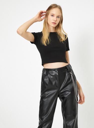 Koton Düz T-Shirt Siyah